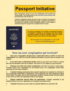 what is needed to update a passport gender marker